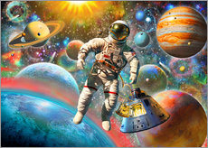 Wall sticker Astronaut Floating in Space