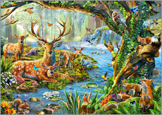 Wall sticker  Forest Life - Adrian Chesterman