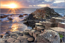 Wall sticker  Sunset at Giant's Causeway