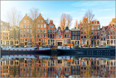 Gallery print  Amsterdam morning reflections - George Pachantouris