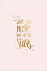 Wall sticker  LOVE YOU YOU MORE THAN ALL THE STARS - Stephanie Wünsche