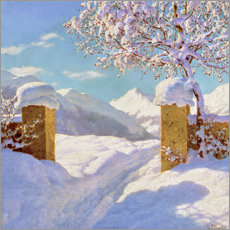 Wall sticker  Symphony in white and blue - Ivan Fedorovich Choultse