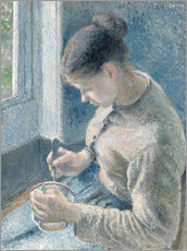 Gallery print  Peasant girl drinking her coffee - Camille Pissarro
