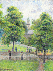 Wall sticker  Saint Anne's Church in Kew, London - Camille Pissarro