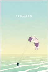 Gallery Print  Kitesurfer on Fehmarn illustration - Katinka Reinke