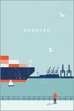 Wall Stickers  Hamburg Illustration - Katinka Reinke