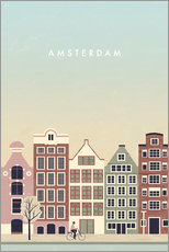 Wall sticker  Amsterdam Illustration - Katinka Reinke
