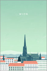 Canvas print  Vienna illustration - Katinka Reinke