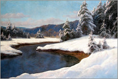 Wall sticker  Winter landscape at the lake - Carl Kenzler