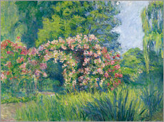 Gallery print  The Monet Rose Garden - Blanche Hoschede-Monet