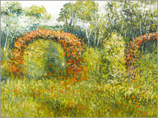 Gallery print  The rose garden in Giverny - Blanche Hoschede-Monet