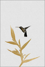Wall sticker  Hummingbird & flower II - Orara Studio