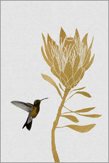 Wall sticker  Hummingbird & flower I - Orara Studio