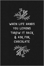 Gallery print  When Life Hands You Lemons Black/White - Orara Studio