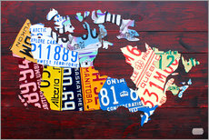 Gallery print  License Plate Map of Canada - Design Turnpike