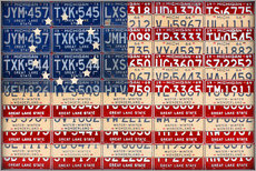 Gallery print  License Plate American Flag Betsy Ross Edition - Design Turnpike