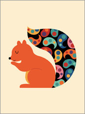 Gallery print  Paisley Squirrel - Andy Westface