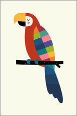 Wall sticker  Rainbow Parrot - Andy Westface