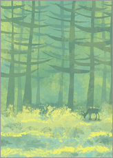 Gallery print  Glade with deer - Nic Squirrell