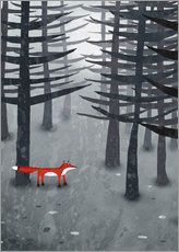 Gallery Print  The fox and the forest - Nic Squirrell