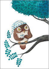 Wall sticker  sleepless owl - Leonora Camusso