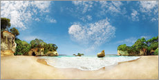 Gallery print  Cathedral Cove Beach with Heart Cloud - New Zealand - Michael Rucker