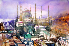 Gallery print  Istanbul, view to the blue mosque - Johann Pickl