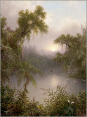 Gallery Print  South American River - Martin Johnson Heade