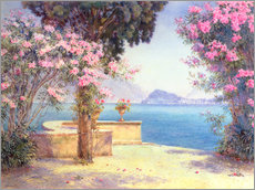 Gallery Print  Bellagio, from the garden of the Grand Hotel, Menaggio - Edith Helena Adie