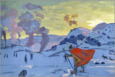 Wall Sticker  The signal fires of peace - Nicholas Roerich