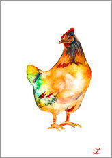 Wall sticker Hen