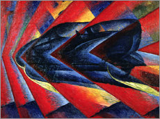 Wall sticker  The Dynamism of an Automobile - Luigi Russolo