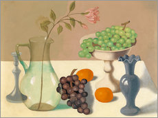 Gallery print  Still life with grapes - Gustave van de Woestyne