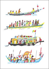 Gallery print  Four African Boats - Peter Allen