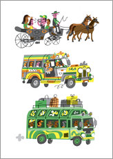 Gallery Print  Three Taxis - Peter Allen