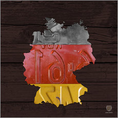 Wall Stickers  Germany Map in License Plates - Design Turnpike