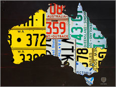 Gallery print  Australia License Plate Map - Design Turnpike