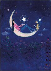 Wall sticker  Moon princess - Mila Marquis
