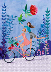 Wall sticker  Merry bike ride - Mila Marquis