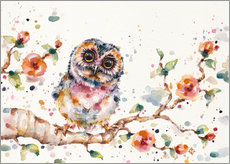Wall sticker  Yep Cute Is My Middle Name (baby Owl)  - Sillier Than Sally