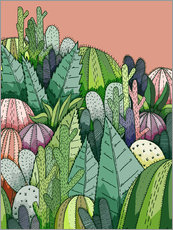 Wall sticker  Cactus Garden - Stephen Wade
