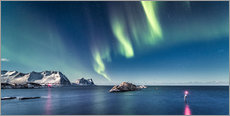 Wall sticker  Aurora Borealis over the ocean in Northern Norway - Sascha Kilmer