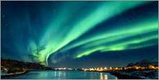 Wall Sticker  Aurora Borealis in Northern Norway - Sascha Kilmer