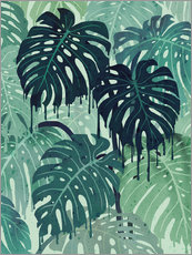 Wall Stickers  Monstera Melt (in Green) - littleclyde