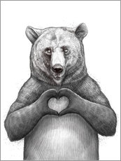 Gallery print  Bear with heart - Nikita Korenkov