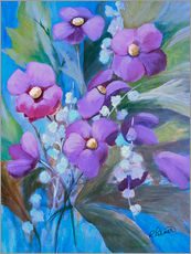 Gallery print  Purple Bouquet - Ruth Palmer