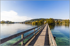 Gallery print  Bridge to the monastery Werd on Lake Constance in Switzerland - Dieterich Fotografie