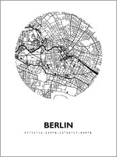 Wall Stickers  City map of Berlin - 44spaces