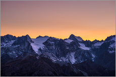 Wall sticker  Massif des Ecrins glaciers at sunset, the Alps - Fabio Lamanna