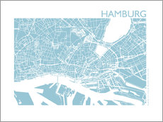 Wall Stickers  City map of Hamburg - 44spaces